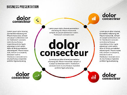 Presentation in Inforgraphics Style, Slide 4, 02511, Presentation Templates — PoweredTemplate.com