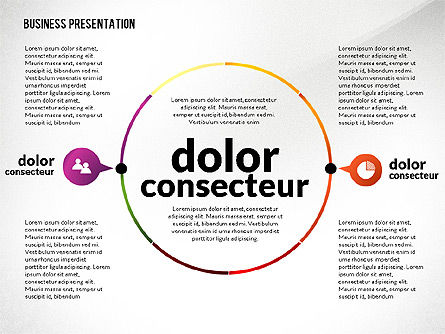 Presentation in Inforgraphics Style, Slide 6, 02511, Presentation Templates — PoweredTemplate.com