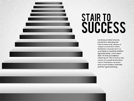 Presentation Templates: Stairs to Success #02512