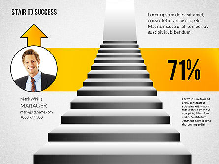 Stairs to Success, Slide 2, 02512, Presentation Templates — PoweredTemplate.com