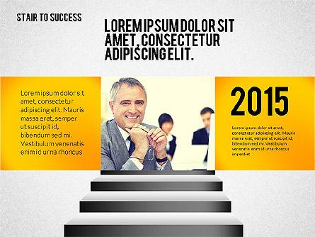 Stairs to Success, Slide 4, 02512, Presentation Templates — PoweredTemplate.com