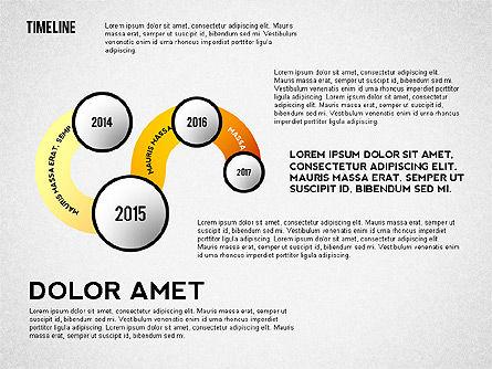 Curved Timeline, 02515, Timelines & Calendars — PoweredTemplate.com