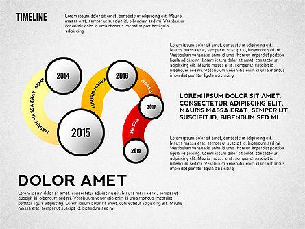 Curved Timeline, Slide 2, 02515, Timelines & Calendars — PoweredTemplate.com