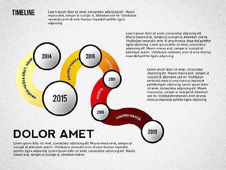 Curved Timeline, Slide 3, 02515, Timelines & Calendars — PoweredTemplate.com