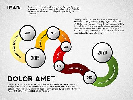Curved Timeline, Slide 4, 02515, Timelines & Calendars — PoweredTemplate.com