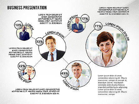 Business Team Player Efficiency Presentation Template, 02516, Presentation Templates — PoweredTemplate.com