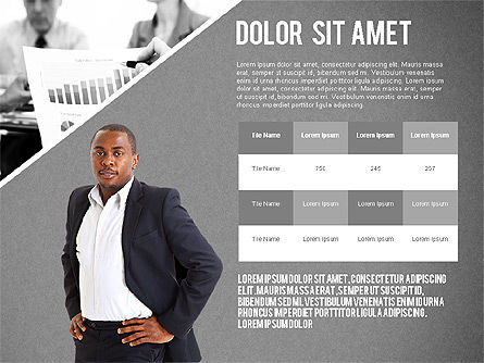 Modern Style Business Presentation Template , Slide 10, 02518, Presentation Templates — PoweredTemplate.com