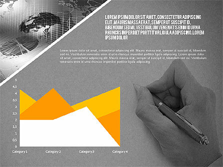 Modern Style Business Presentation Template , Slide 12, 02518, Presentation Templates — PoweredTemplate.com