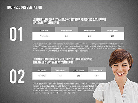 Modern Style Business Presentation Template , Slide 13, 02518, Presentation Templates — PoweredTemplate.com