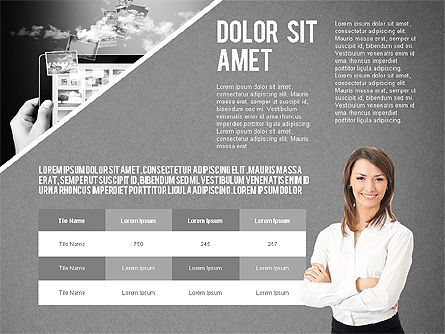 Modern Style Business Presentation Template , Slide 14, 02518, Presentation Templates — PoweredTemplate.com