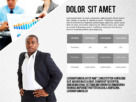 Modern Style Business Presentation Template , Slide 2, 02518, Presentation Templates — PoweredTemplate.com