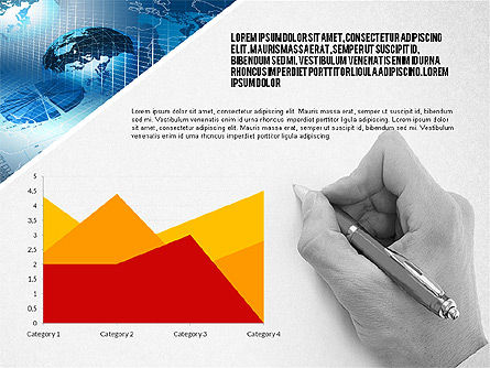 Modern Style Business Presentation Template , Slide 4, 02518, Presentation Templates — PoweredTemplate.com