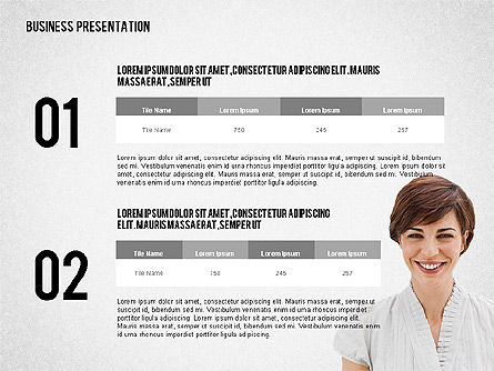Modern Style Business Presentation Template , Slide 5, 02518, Presentation Templates — PoweredTemplate.com