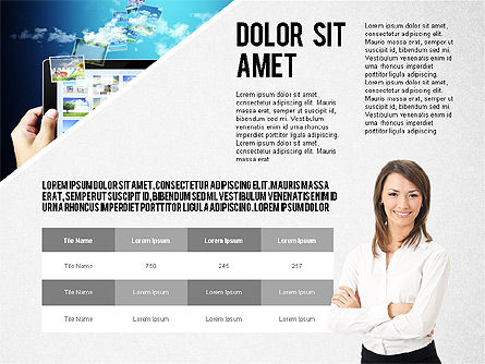 Modern Style Business Presentation Template , Slide 6, 02518, Presentation Templates — PoweredTemplate.com