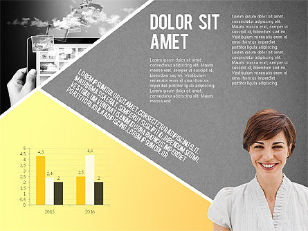 Modern Style Business Presentation Template , Slide 9, 02518, Presentation Templates — PoweredTemplate.com