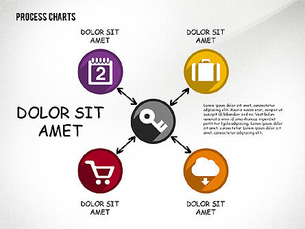 Process with Icons Toolbox, 02520, Process Diagrams — PoweredTemplate.com