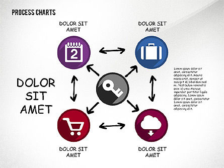 Process with Icons Toolbox, Slide 4, 02520, Process Diagrams — PoweredTemplate.com