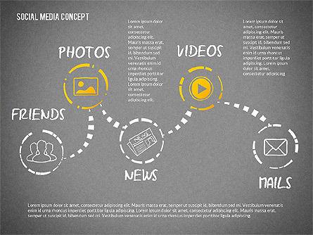 Social Media Presentation with Icons, Slide 10, 02524, Presentation Templates — PoweredTemplate.com