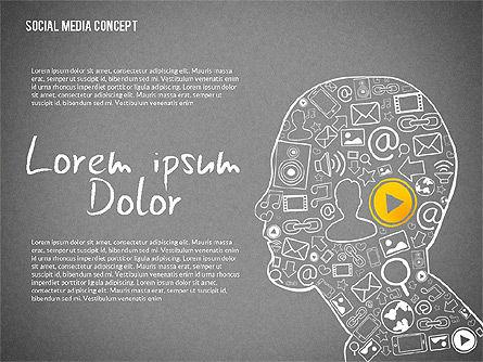 Social Media Presentation with Icons, Slide 11, 02524, Presentation Templates — PoweredTemplate.com
