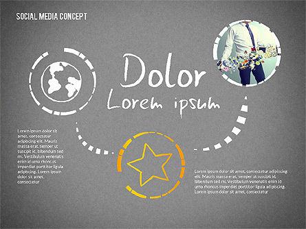 Social Media Presentation with Icons, Slide 12, 02524, Presentation Templates — PoweredTemplate.com