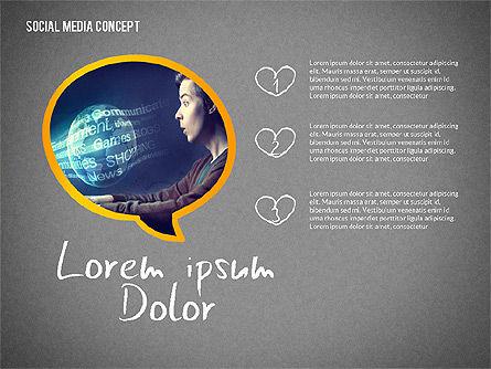 Social Media Presentation with Icons, Slide 13, 02524, Presentation Templates — PoweredTemplate.com