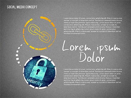 Social Media Presentation with Icons, Slide 14, 02524, Presentation Templates — PoweredTemplate.com