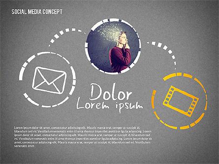 Social Media Presentation with Icons, Slide 15, 02524, Presentation Templates — PoweredTemplate.com