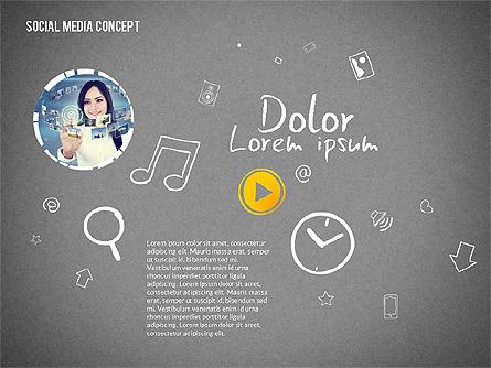 Social Media Presentation with Icons, Slide 16, 02524, Presentation Templates — PoweredTemplate.com