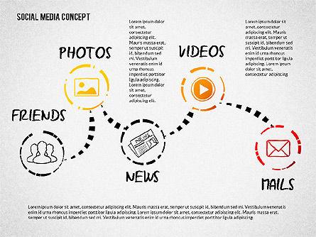Social Media Presentation with Icons, Slide 2, 02524, Presentation Templates — PoweredTemplate.com