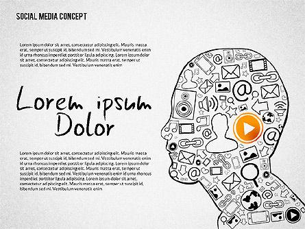 Social Media Presentation with Icons, Slide 3, 02524, Presentation Templates — PoweredTemplate.com