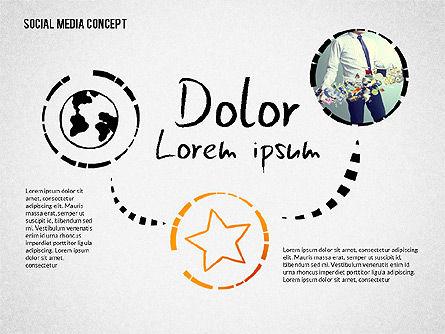 Social Media Presentation with Icons, Slide 4, 02524, Presentation Templates — PoweredTemplate.com