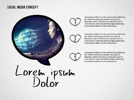 Social Media Presentation with Icons, Slide 5, 02524, Presentation Templates — PoweredTemplate.com