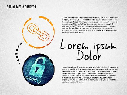 Social Media Presentation with Icons, Slide 6, 02524, Presentation Templates — PoweredTemplate.com