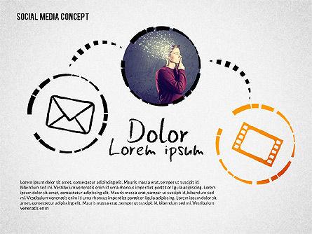 Social Media Presentation with Icons, Slide 7, 02524, Presentation Templates — PoweredTemplate.com