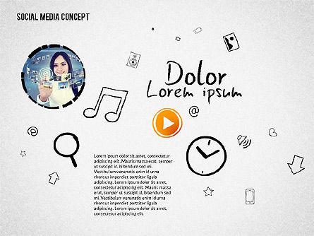 Social Media Presentation with Icons, Slide 8, 02524, Presentation Templates — PoweredTemplate.com