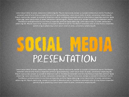 Social Media Presentation with Icons, Slide 9, 02524, Presentation Templates — PoweredTemplate.com