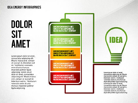 Idea Energy Infographics, 02525, Infographics — PoweredTemplate.com