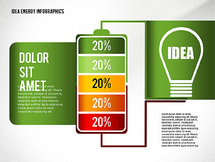 Idea Energy Infographics, Slide 2, 02525, Infographics — PoweredTemplate.com