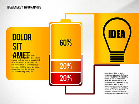 Idea Energy Infographics, Slide 4, 02525, Infographics — PoweredTemplate.com