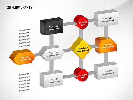 Flow Charts: 3D Flowchart Toolbox #02530