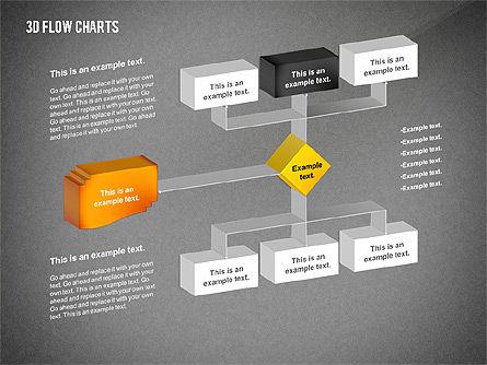 3D Flowchart Toolbox, Slide 10, 02530, Flow Charts — PoweredTemplate.com
