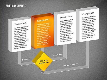 3D Flowchart Toolbox, Slide 15, 02530, Flow Charts — PoweredTemplate.com