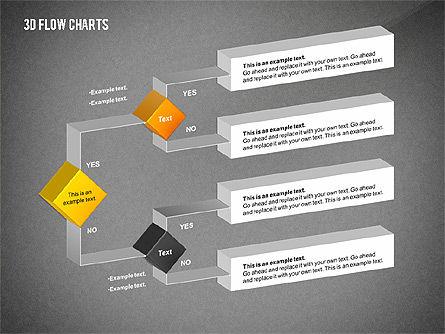 3D Flowchart Toolbox, Slide 16, 02530, Flow Charts — PoweredTemplate.com
