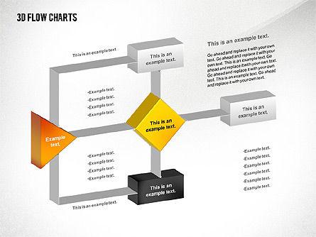 3D Flowchart Toolbox, Slide 5, 02530, Flow Charts — PoweredTemplate.com