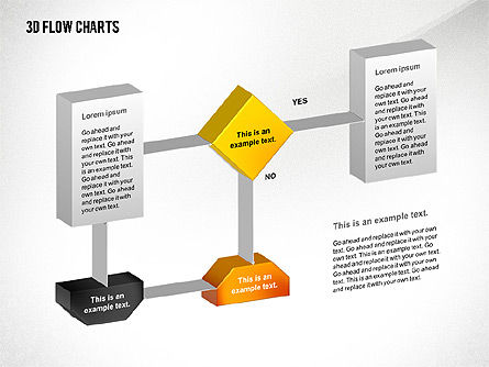 3D Flowchart Toolbox, Slide 6, 02530, Flow Charts — PoweredTemplate.com