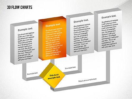 3D Flowchart Toolbox, Slide 7, 02530, Flow Charts — PoweredTemplate.com