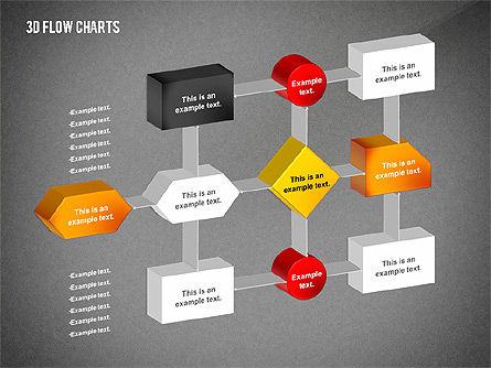 3D Flowchart Toolbox, Slide 9, 02530, Flow Charts — PoweredTemplate.com