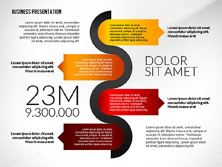 Business Presentation in Infographic Style, Slide 3, 02531, Presentation Templates — PoweredTemplate.com