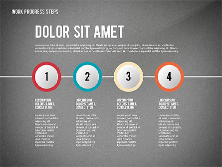 Work Progress Steps, Slide 10, 02533, Stage Diagrams — PoweredTemplate.com