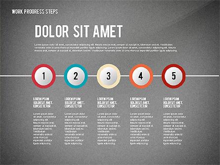 Work Progress Steps, Slide 11, 02533, Stage Diagrams — PoweredTemplate.com